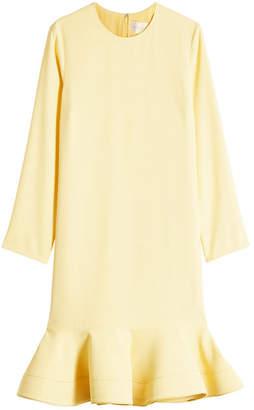 Victoria Beckham Victoria Dress with Ruffled Hem