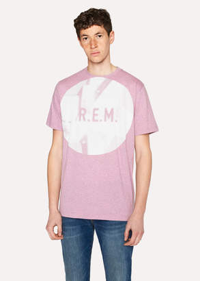 Paul Smith Ps R.E.M. + Pink Marl 'Automatic Logo' Print T-Shirt