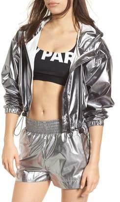 Ivy Park R) Metallic Crop Jacket