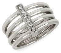 BCBGeneration Sparkling Seas Crystal Cubic Zirconia Bar Ring