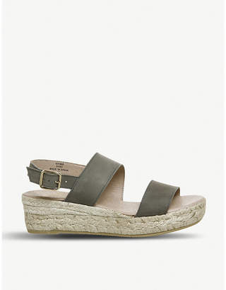 Office Ig3 leather flatform espadrille sandals