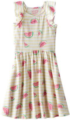 Girls 4-10 Jumping Beans® Pattern Flutter Sleeve Dress $24 thestylecure.com