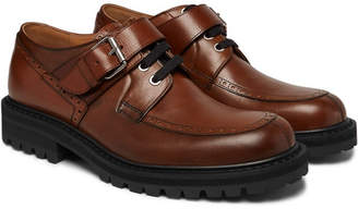 Dries Van Noten Buckled Leather Derby Shoes