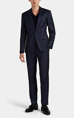 Ralph Lauren Purple Label Men's Douglas Wool Sharkskin Two-Button Suit - Navy