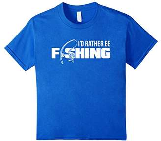 Funny Fishing T Shirt I'd Rather Be Fishing T-Shirt For Dad