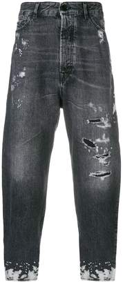 Diesel Black Gold distressed fitted jeans