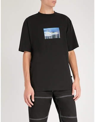 Blood Brother Dreamer-print cotton-jersey T-shirt