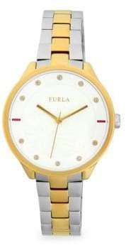 Furla Metropolis Crystal & Stainless Steel Bracelet Watch
