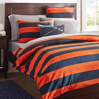 Pottery Barn Teen Rugby Stripe Sham, Navy/Bright Blue, Standard