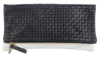 Clare Vivier Woven Leather Clutch