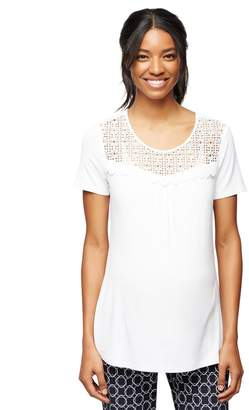 Daniel Rainn Geometric Lace Maternity Top