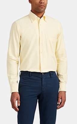 P. Johnson Men's Cotton Oxford Button-Down Shirt - Yellow
