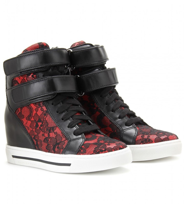 Marc by Marc Jacobs CONCEALED WEDGE LEATHER SNEAKERS