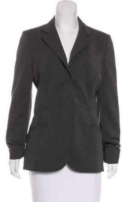 Prada Fitted Virgin Wool-Blend Blazer