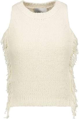 3.1 Phillip Lim Cropped Fringed Knitted Top