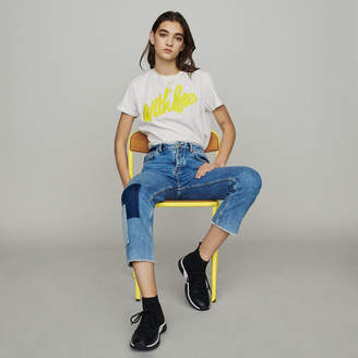 Maje Straight-leg jeans with pieces