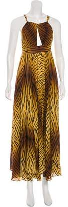Michael Kors Animal Print Silk Dress