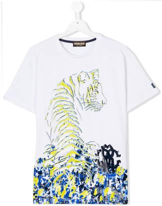 Roberto Cavalli Teen tiger print T-shirt
