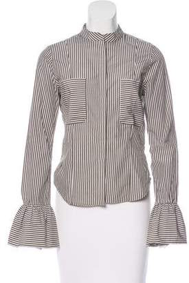Frame Striped Button-Up Top