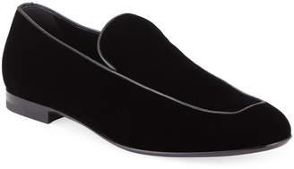 Ermenegildo Zegna Men's Formal Apron Suede Loafer