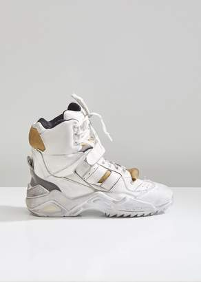 Maison Margiela Retro Fit Distressed High Top Sneakers