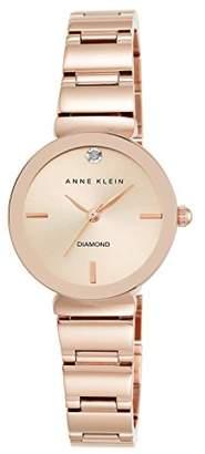 Anne Klein Women's AK/2434RGRG Diamond-Accented -Tone Bracelet Watch