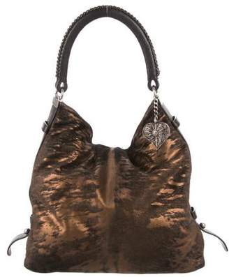 Chanel Metallic Ponyhair Hobo