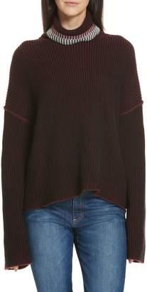 Theory Oversize Cashmere Turtleneck Sweater