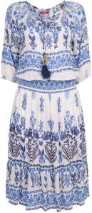 Ya-Ya Ruby Blue Adriana Dress - XS - White/Blue