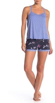 PJ Salvage Floral Lace Trim Sleep Shorts