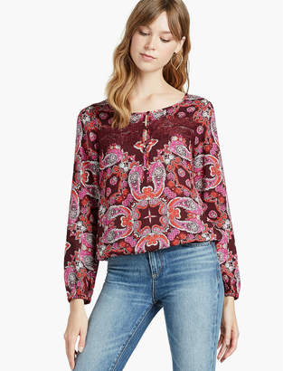 Lucky Brand PAISLEY LACE BANDED BTM