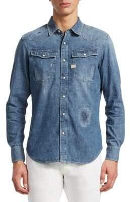 G Star 3301 Graft Slim Fit Denim Shirt