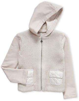 Elsy Baby (Girls 4-6x) Knit Front Zip-Up Hoodie