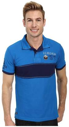 U.S. Polo Assn. Chest Stripe Slim Fit Polo Men's Short Sleeve Pullover