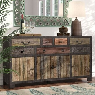 World Menagerie Moultry 7 Drawer 4 Door Sideboard World Menagerie