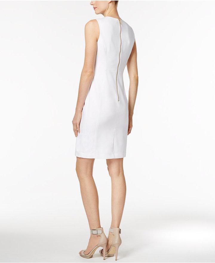 Calvin Klein Stretch Canvas Sheath Dress 6