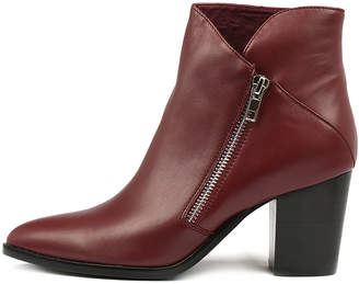Django & Juliette Tapdance Burgundy Boots Womens Shoes Casual Ankle Boots