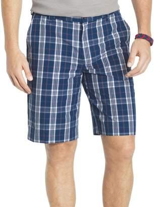 Izod Men's Flat Front Colored Plaid Short