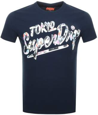 Superdry Ticket Type T Shirt Navy