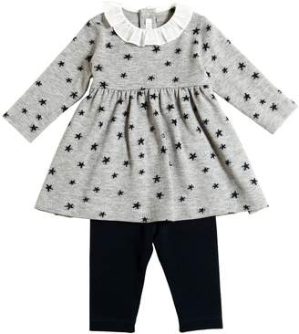 Il Gufo Stars Viscose Knit Dress & Leggings