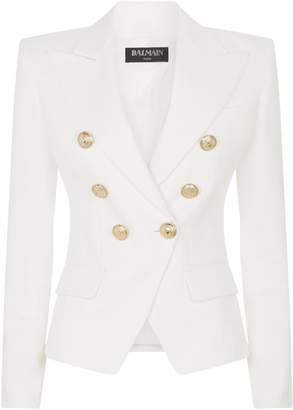 Balmain Double-Breasted Cotton Blazer