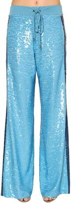 Alberta Ferretti Two Tone Sequined Track Pants