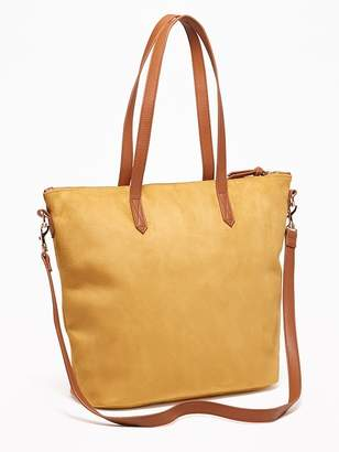 Old Navy Faux-Suede Zip-Top Tote for Women