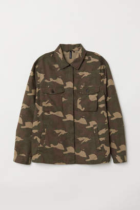 H&M Patterned Utility Jacket - Green