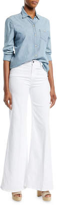 Frame Le Palazzo High-Rise Wide-Leg Pants