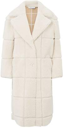 Off-White Off White Longline Shearling Coat