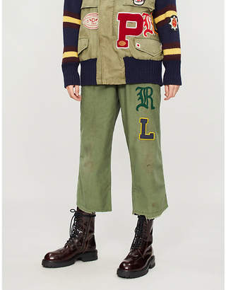 Polo Ralph Lauren Unisex patched cotton cargo trousers