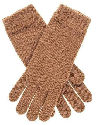 Black Ladies Camel Cashmere Gloves