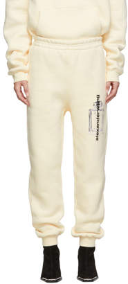 Alexander Wang Off-White Graphic Lounge Pants
