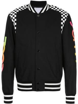Ports V Cool Summer checkered panel bomber jacket